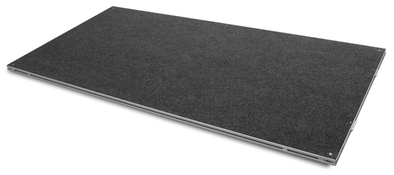 Intellistage 2m x 1m carpeted stage platform the staging for Fenetre 2m x 1m